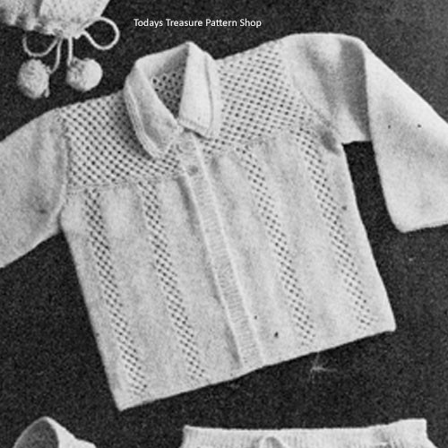 Baby Boy Knitted Jacket Pattern