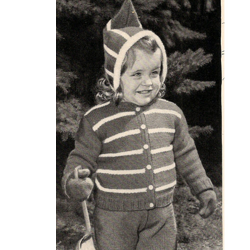 Knitting Pattern Baby Vintage Snow Suit