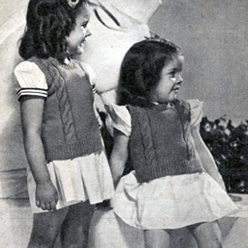 Knitting Pattern, Childs Sleeveless pullover