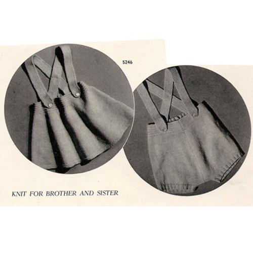 Toddler Suspenders Skirt Knitting Patter