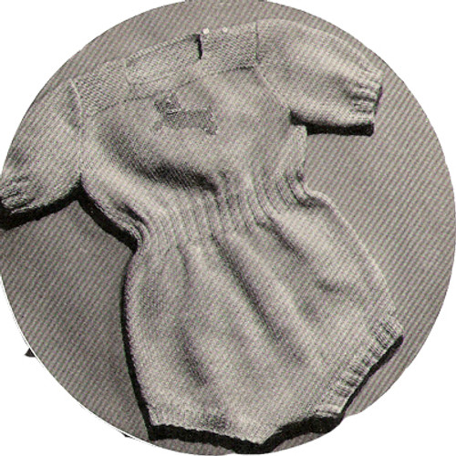 Knitted Baby Romper Pattern with Short Sleeves