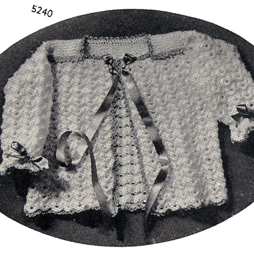 Infant Knitted Lace Jacket Pattern