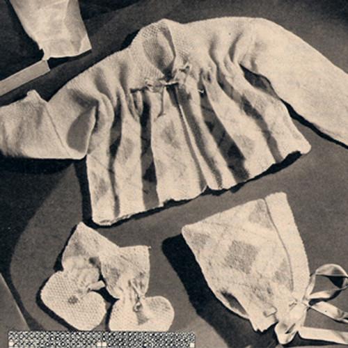 Vintage Baby Knit Argyle Layette Pattern