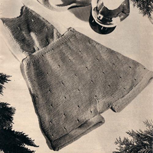 Vintage Baby Bibbed Pants Knitting Pattern