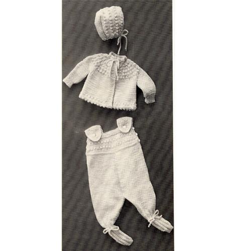 Vintage Knitted Baby Legging Pattern Set