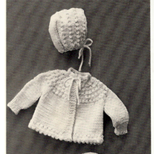 Vintage Knitted Jacket and Bonnet Pattern