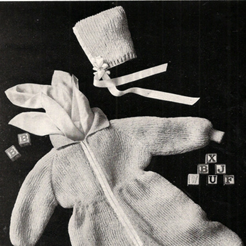 Baby Winter One Piece Suit Knitting pattern