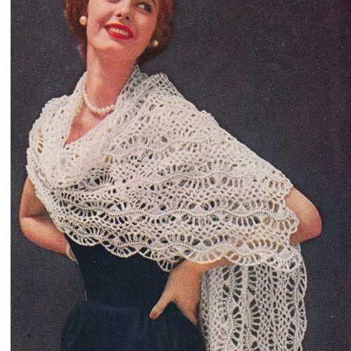 American Thread Hairpin Lace Stole Pattern