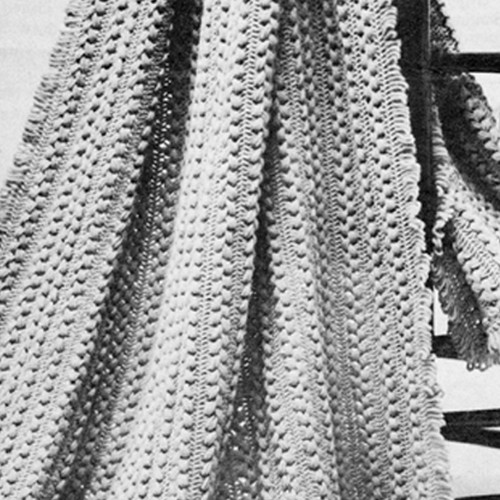 Vintage Afghan Pattern in Hairpin Lace