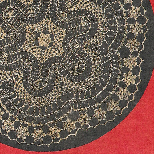 Vintage Hairpin Lace Doily Pattern from Workbasket
