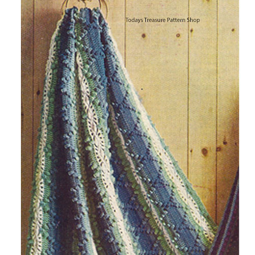 Striped Hairpin Lace Afghan Pattern
