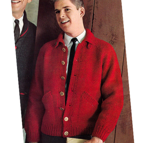 Boys Vintage Knitting Pattern, Cardigan Jacket