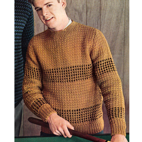 Knitting Pattern, Teen Honeycomb Sweater pattern