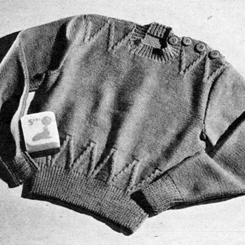 Knitted Childs Pullover Sweater Pattern
