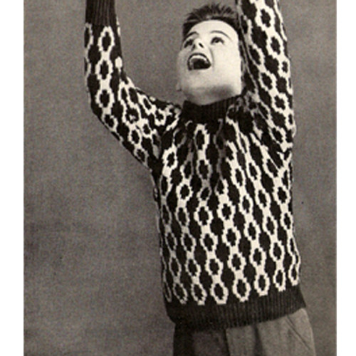 Boys Knitted Sweater Pattern with Chain Motif
