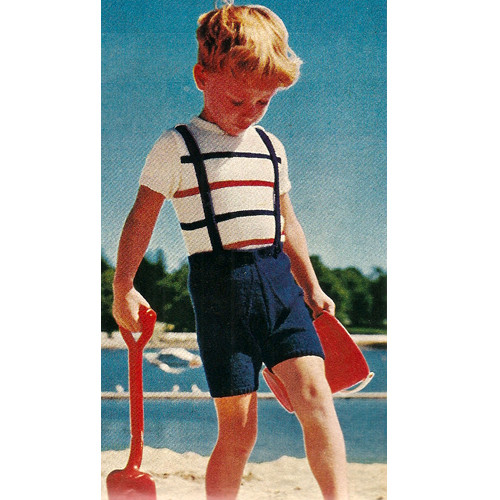 Boys Top Shorts Knitting Pattern