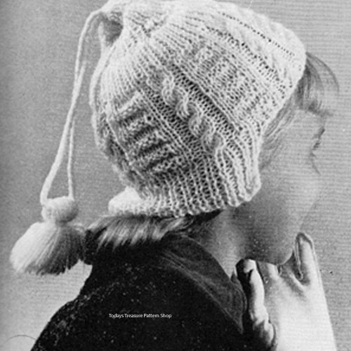 Girls Knitted Stocking Cap Pattern