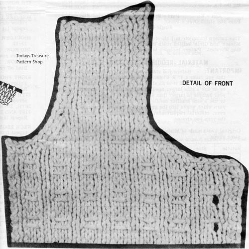 Knit Vests Illustration