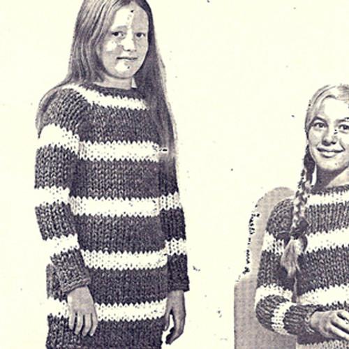 Girls Big Needle Dress Knitting Pattern