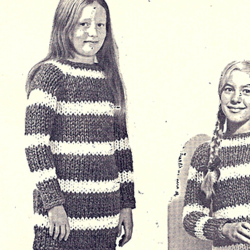 Girls Big Needle Dress Knitting Pattern