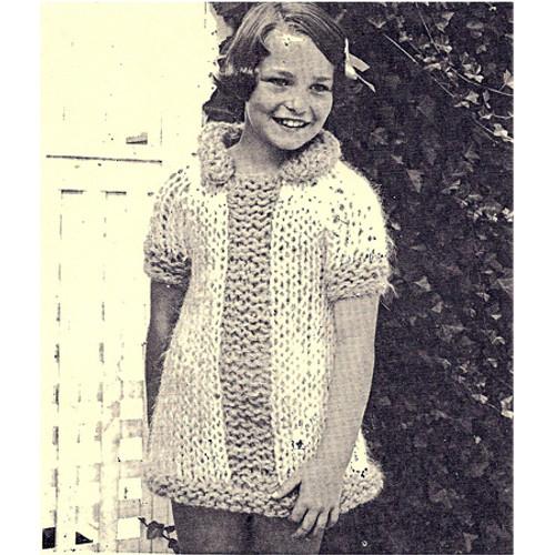 Girls Knit Big Needle Dress Pattern