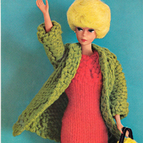 Vintage Barbie Doll Outfit Knitting Pattern