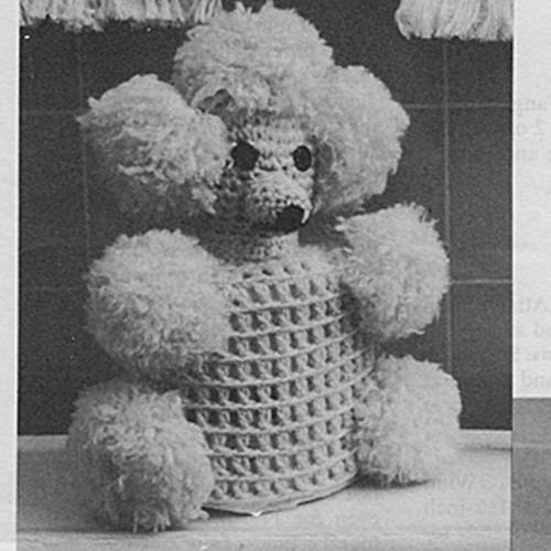 Vintage Poodle Crochet Tissue Cover pattern