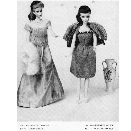 Barbie Doll Dress Knitting Pattern