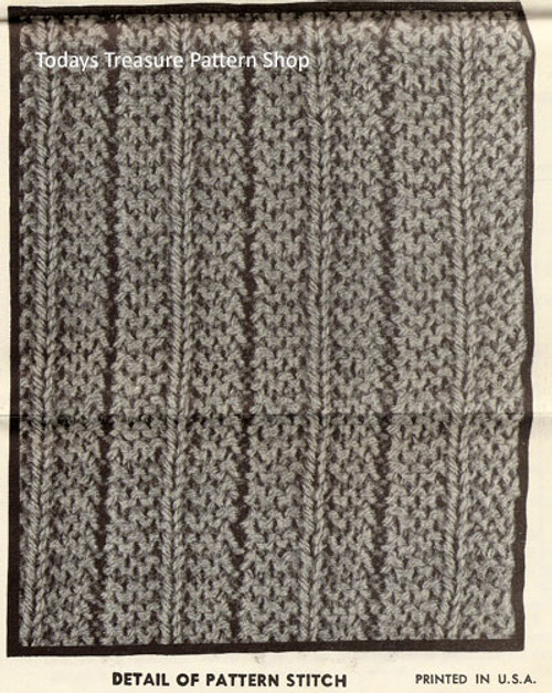Knitted Pattern Stitch for Dog Coat