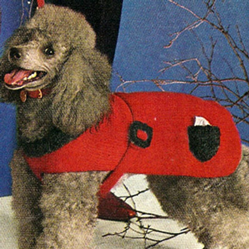 Vintage Knitting Pattern Dogs Coat