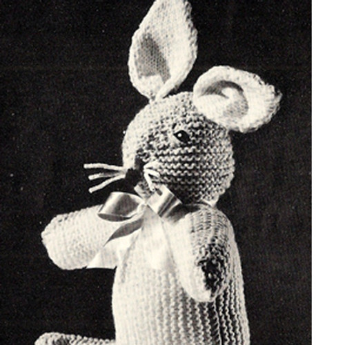 Sitting Bunny Rabbit Knitted Toy Pattern