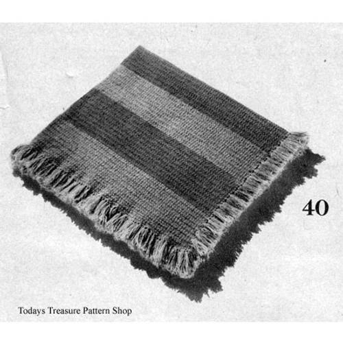 Easy Striped Afghan Crochet Pattern