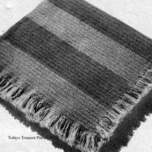 Beginners Crochet Pattern for Striped Afghan