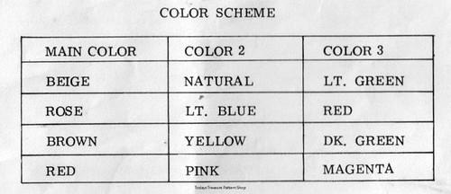 Crochet Afghan Color Chart