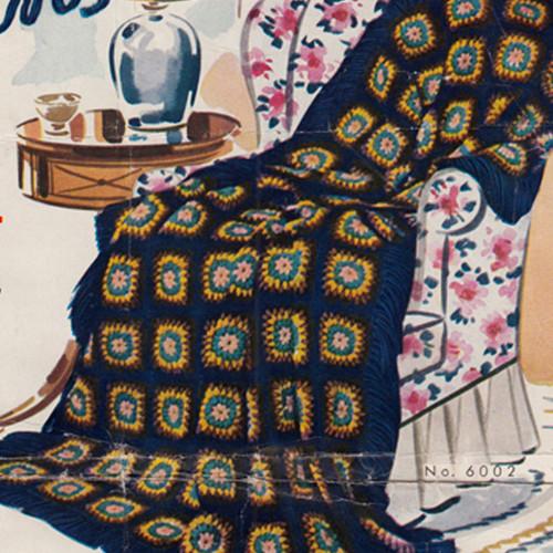 Crochet Afghan Leaflet 516, New England