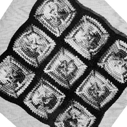 Flower Granny Block Crochet Afghan Pattern
