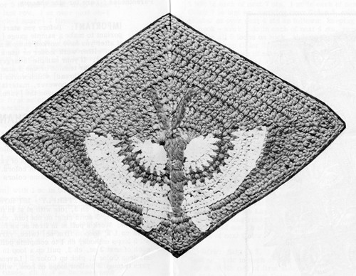 Crochet Illustration of Butterfly Afghan Pattern