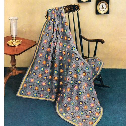 Vintage Flower Garden Crochet Afghan Pattern