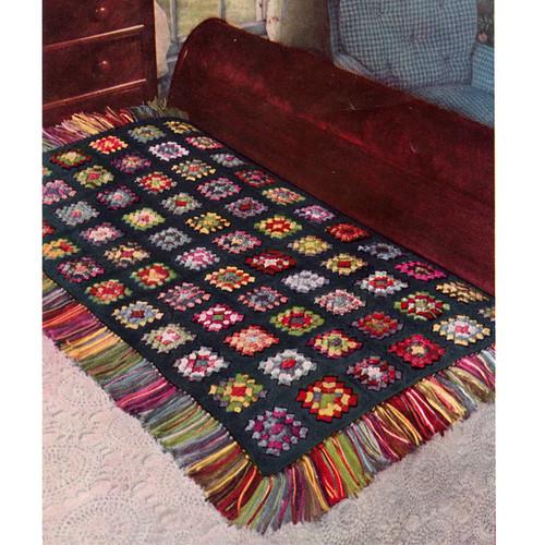 Vintage American Thread Granny Square Crochet Pattern