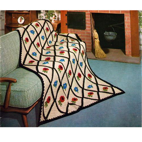 Classic Mount Vernon Crochet Afghan Pattern