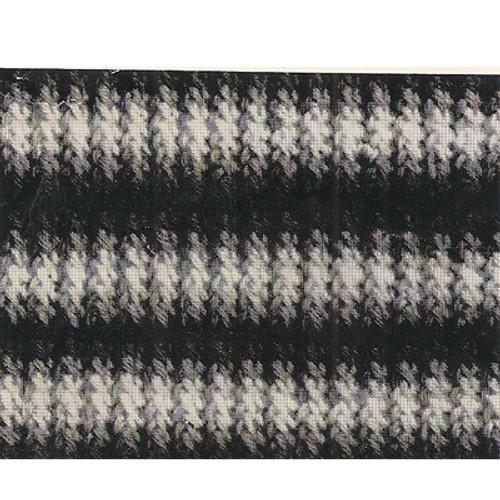 Shaded Stripes Crochet Panel Detial