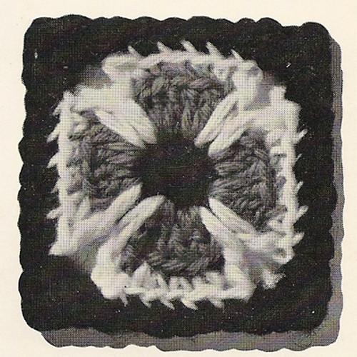 Crochet Maltese Cross Square medallion