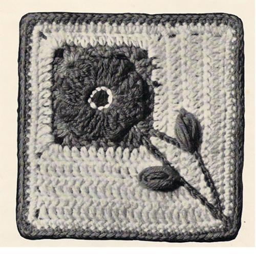 Crochet Pennsylvania Dutch Square Block