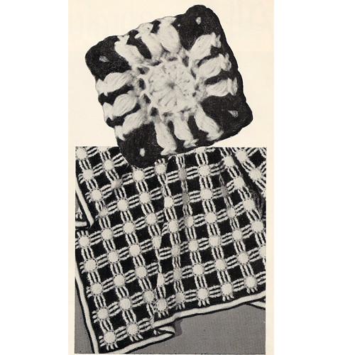 Honeycomb Crochet Block Detail