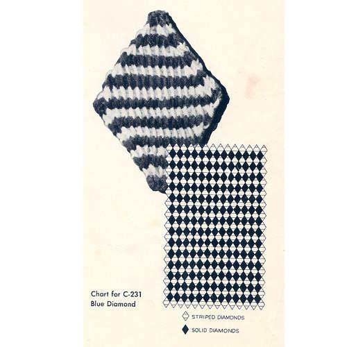 Crochet diamond afghan illustration