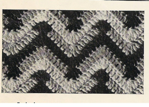 Detail of Crochet ripple afghan