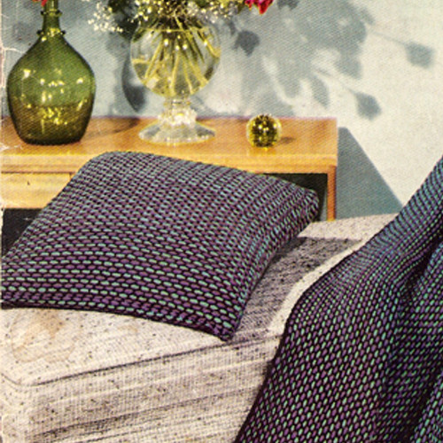 Checked Crochet Pillow and Afghan Pattern