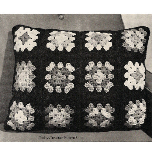 Crochet Granny Square Pillow Pattern