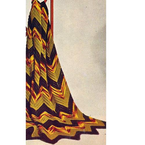 Classic Ripple Crochet Afghan Pattern