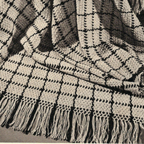 Crochet Afghan Pattern with Woven Line Detail